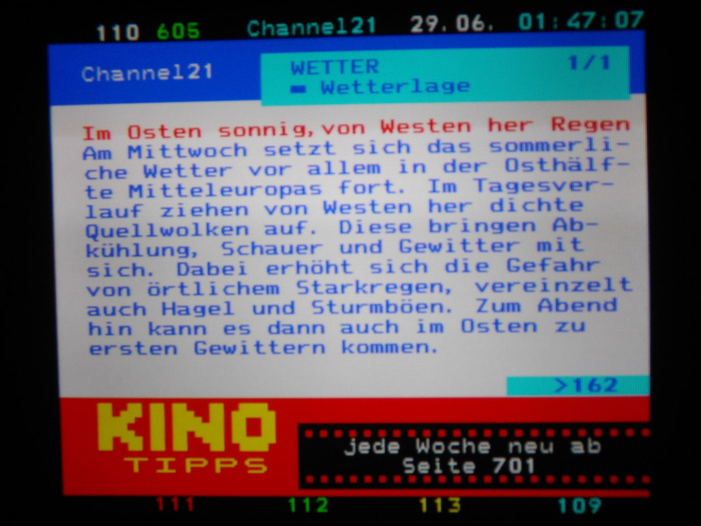 Teletext Channel 21
