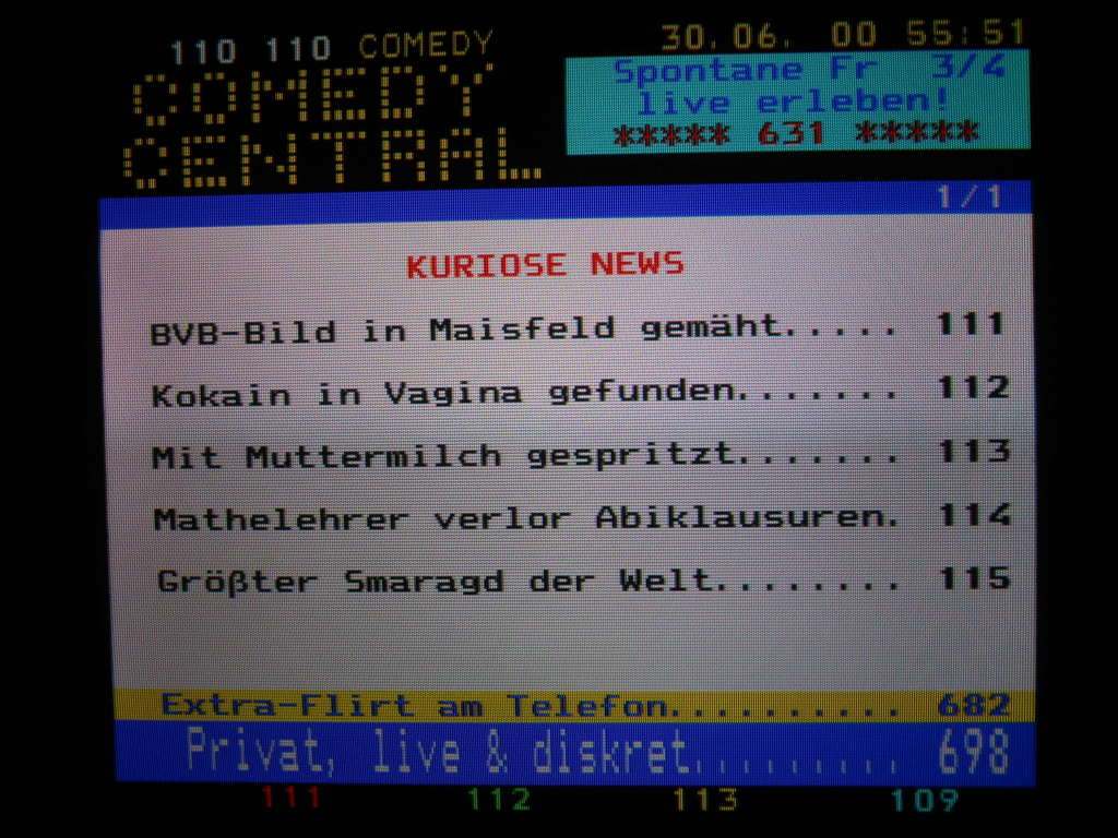 Teletext Comedy Central