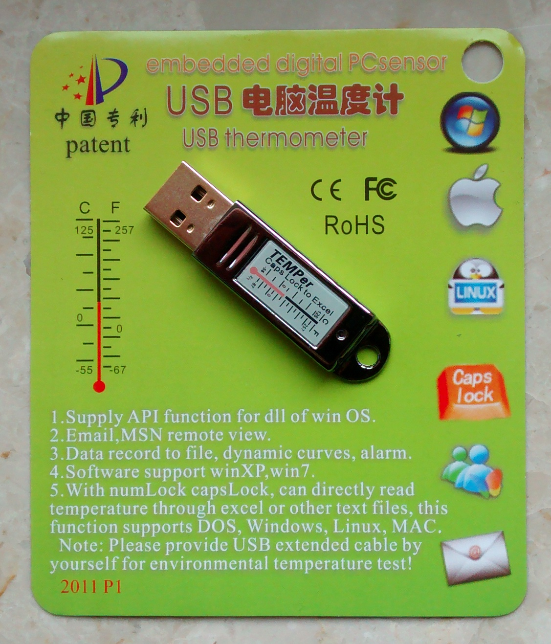 TEMPer USB thermometer