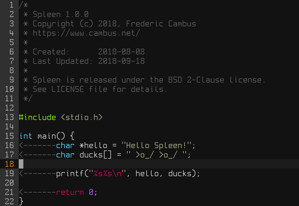 Spleen - Monospaced bitmap fonts - Cambus net
